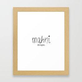 mahni logo Framed Art Print