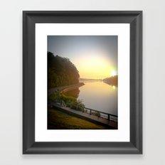 Sunrise Over Lake and Path Framed Art Print