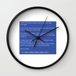 This is a perfect gift for computer users who hates Blue Screen of Death, Classic BSOD Error T-Shirt Wall Clock