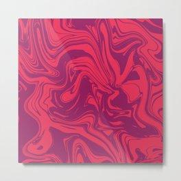 Liquid marble texture design 032 Metal Print