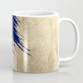 Navy blue abstract faux gold brushstrokes Coffee Mug