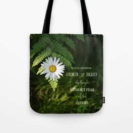 Clothed with Strength Tote Bag
