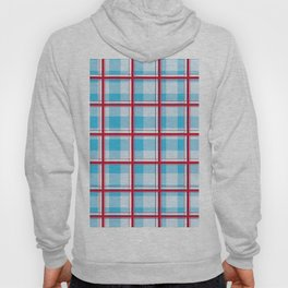 Checkered pattern Abstract blue and red Hoody