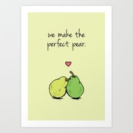 Perfect Pear Art Print