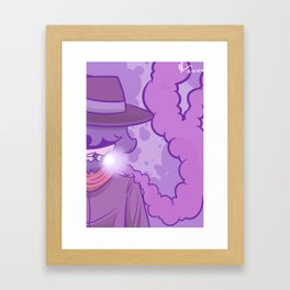 Smoke Tricks Framed Art Print