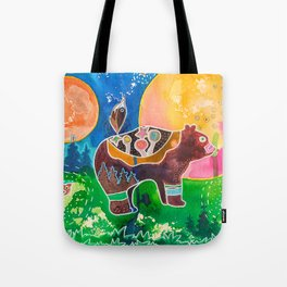Family bear - animal - by LiliFlore Tote Bag