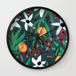 Moody Tropical Wall Clock