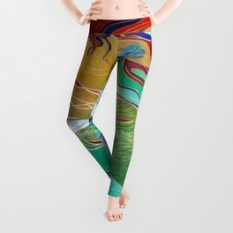 Mermaid and Butterflies Leggings