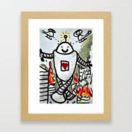 Happy Bot Framed Art Print