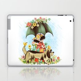 Rain on the green grass, Rain on the tree, Rain on the housetop, But not on me Laptop & iPad Skin