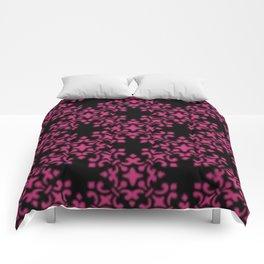 Pink Yarrow Vintage Brocade Damask Comforters