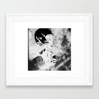 mad Framed Art Prints featuring mad by Simone Colliva