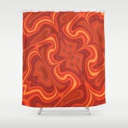 Fiery Fire Shower Curtain