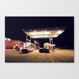 The Pink Roadhouse Canvas Print