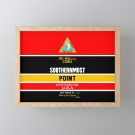 Southern Most Point, Key West, Florida/サザン・モスト・ポイント Framed Mini Art Print