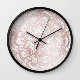 Rose Gold Mandala Star Wall Clock