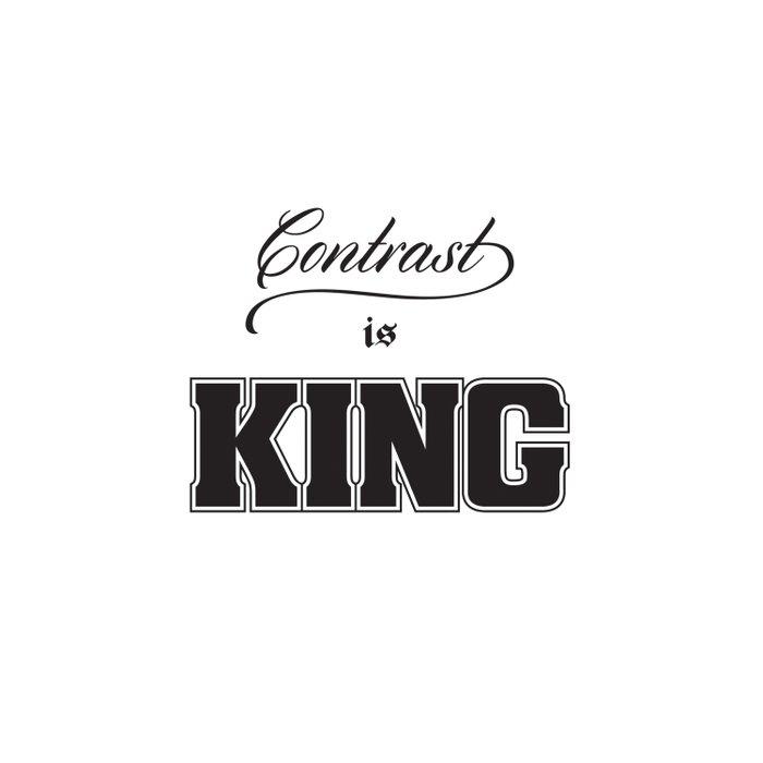 Contrast Is King on White Duvet Cover