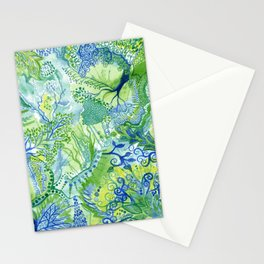 Growth - Watercolor abstract painting Stationery Cards