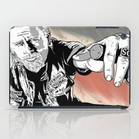 sons of anarchy iPad Cases featuring Sons of Anarchy - Jax by Averagejoeart