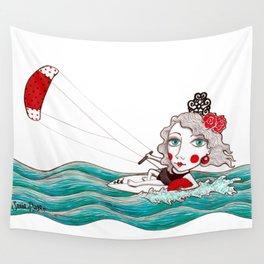 Kite surfer girl Wall Tapestry