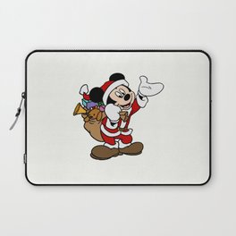 Mickey Mouse with christmas gifts :) Laptop Sleeve