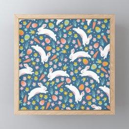 Easter Bunnies Framed Mini Art Print