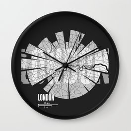 London Map Wall Clock
