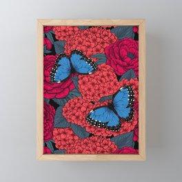 Blue morpho Framed Mini Art Print