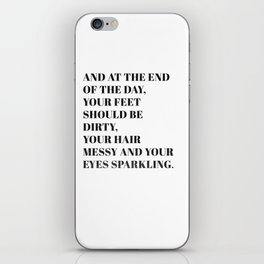 and at the end iPhone Skin