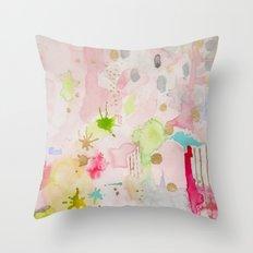 Celestial Pink Throw Pillow