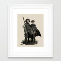 thrones Framed Art Prints featuring Crannogmen - Game of Thrones by Munkel