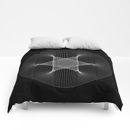 Earth : Moon - Black Comforters