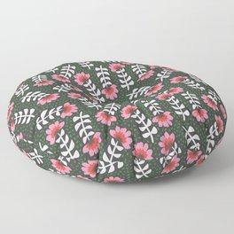 Camelita Retro Folk Flower Floor Pillow