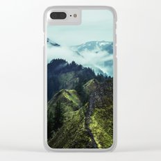 Forest Mountains Blue Sky Clear iPhone Case
