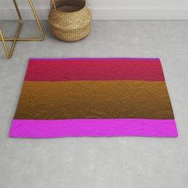 Pink and Bronze passion Rug