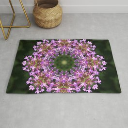 Constellation of Verbena flowers mandala Verbena bonariensis 1829 k2 Rug