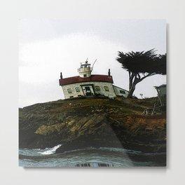 Tilted Lighthouse Metal Print