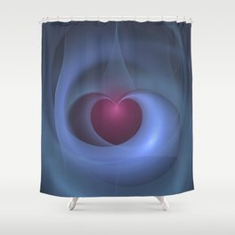 Take Care of My Heart Fractal Shower Curtain