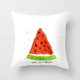One in a melon Throw Pillow
