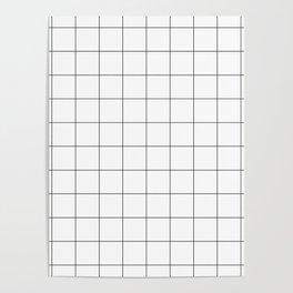 White Grid  /// pencilmeinstationery.com Poster