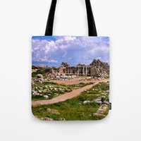 turkey Tote Bags featuring Side Turkey by helsch photography