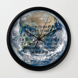 La Tierra no es Plana Wall Clock