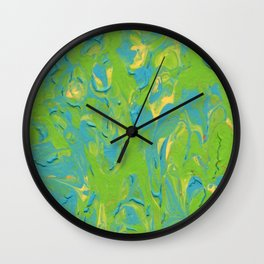 Paint Pouring 8 Wall Clock