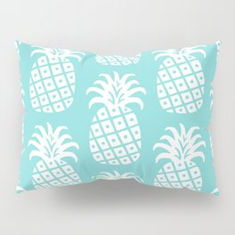 Retro Mid Century Modern Pineapple Pattern 732 Turquoise Pillow Sham