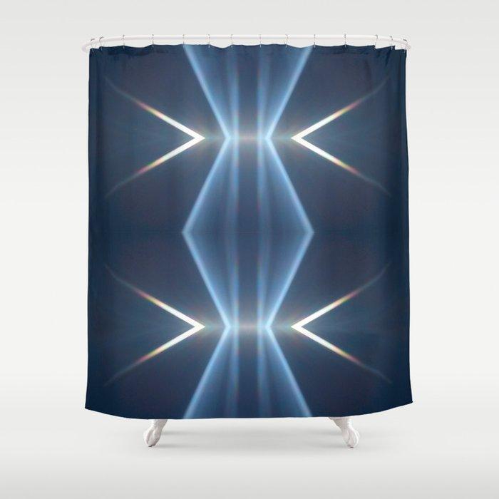 Sun Ray Split Diamond Shower Curtain By Ebartlett