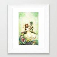 wedding Framed Art Prints featuring Wedding by Achiru