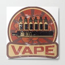 Vape Propaganda | Vaper Vaping E-Cigarette Metal Print