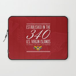 Established in the 340/USVI - Red Laptop Sleeve