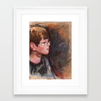 whatever Framed Art Prints featuring whatever by Chris Shockley - shock schism
