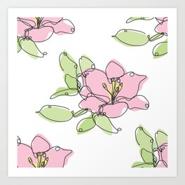 Lily Flowers Art Print